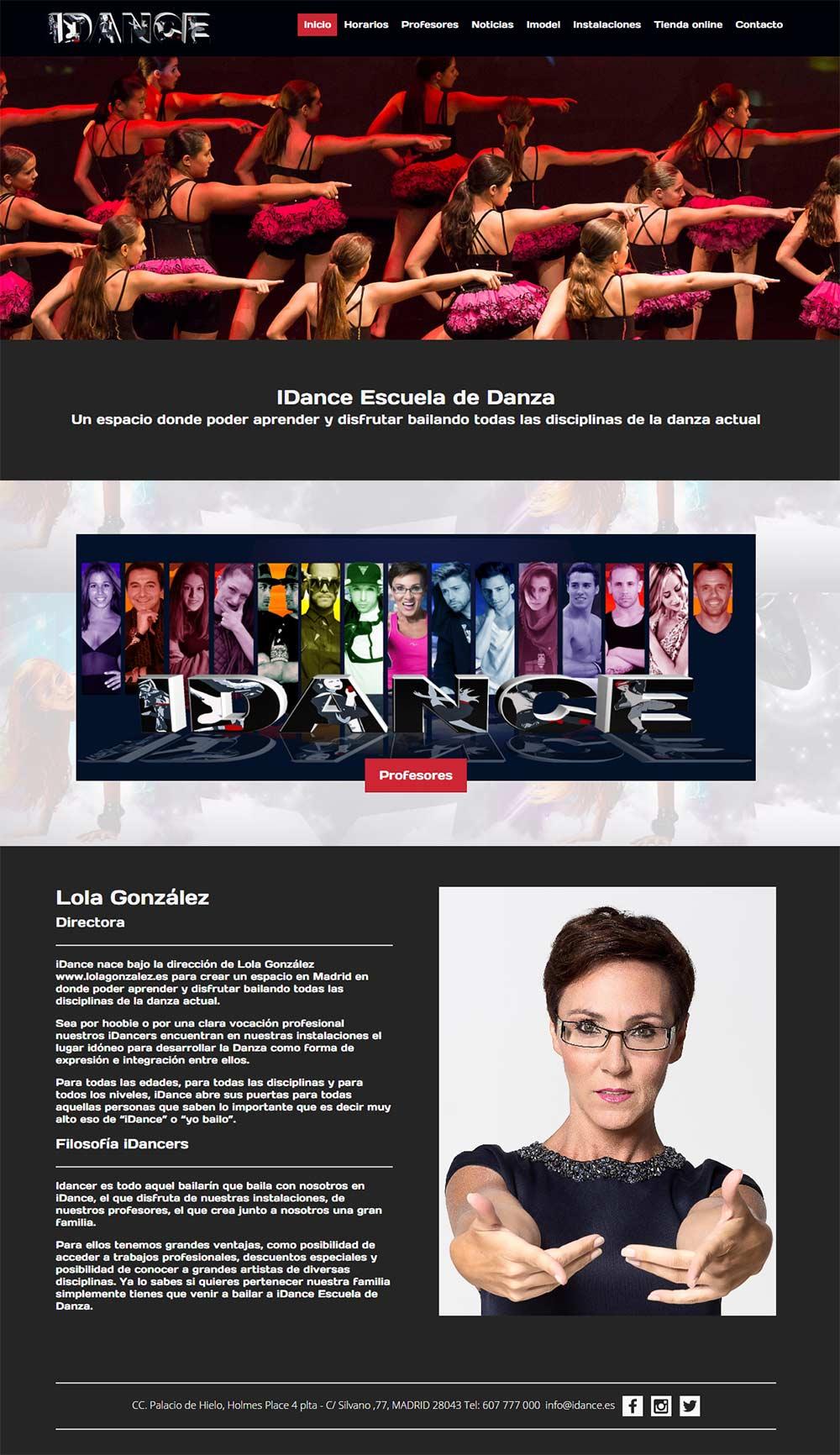 página web Inglés baile