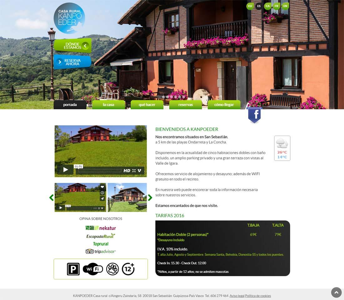 Ideas dise o p ginas web turismo rural graficmedia for Casa piscitelli pagina web