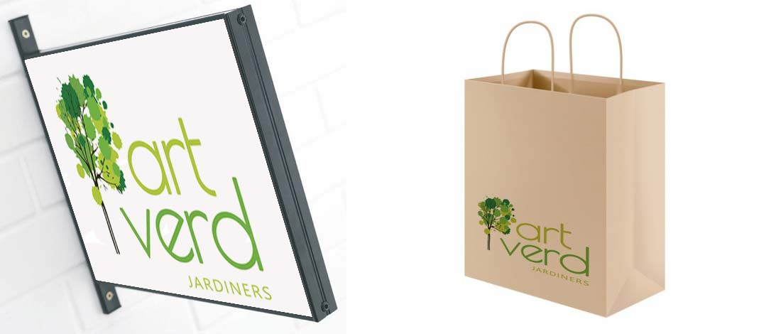 Diseño logo jardineria paisajismo | graficmedia