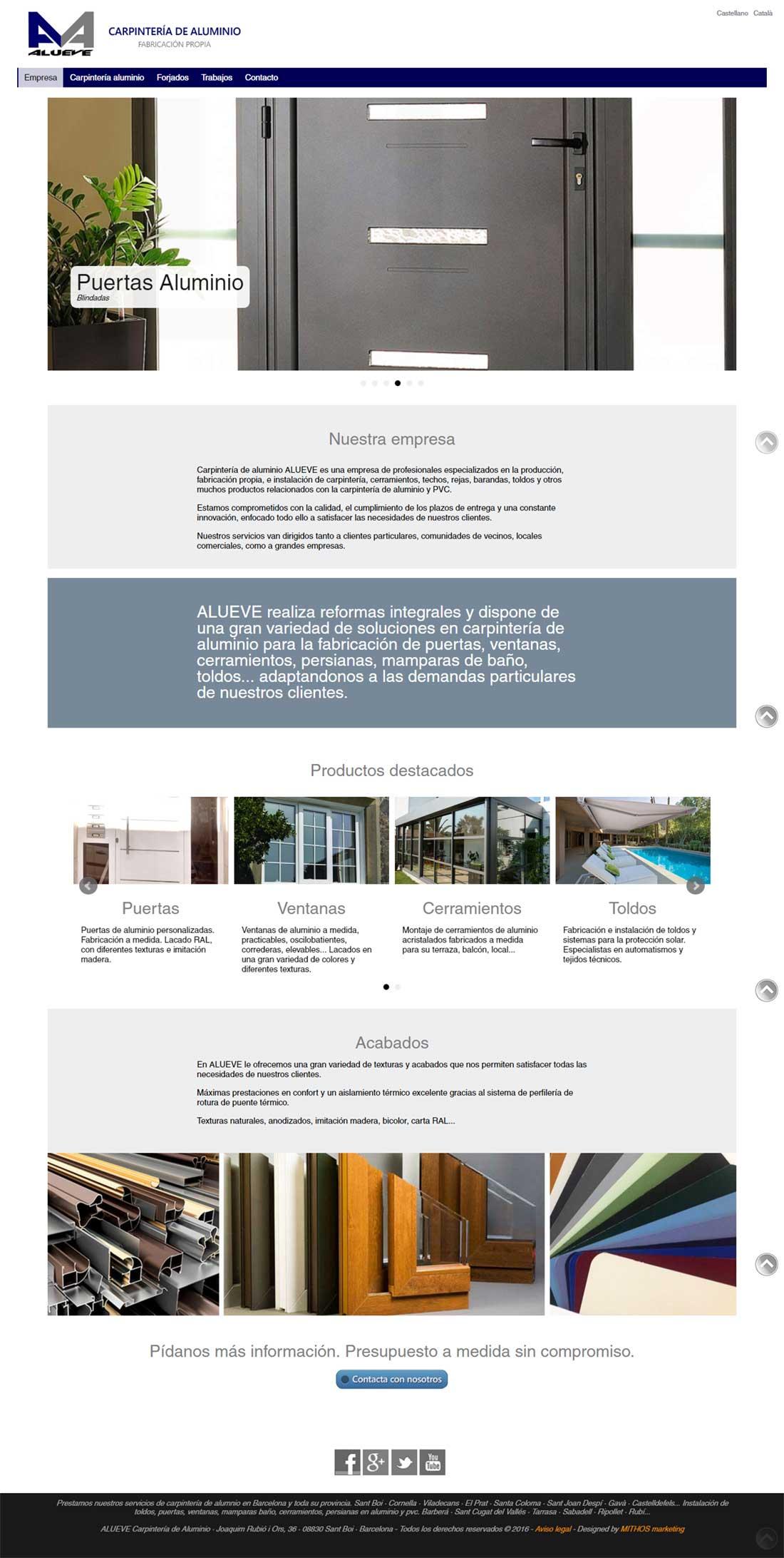 Dise o web carpinter a de aluminio graficmedia - Carpinteria de aluminio en vigo ...