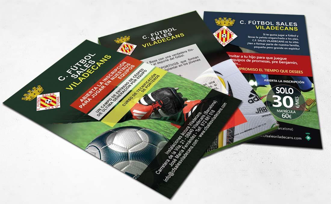 Diseño flyers club fútbol Viladecans Diseño pagina ... 451ff24c4024f
